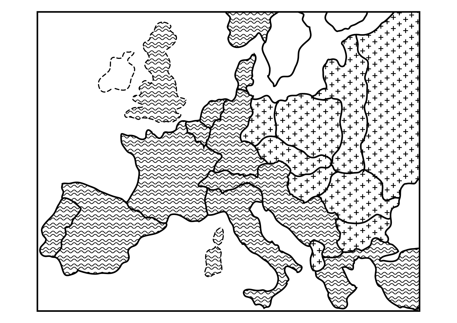 map of the treaty of warsaw