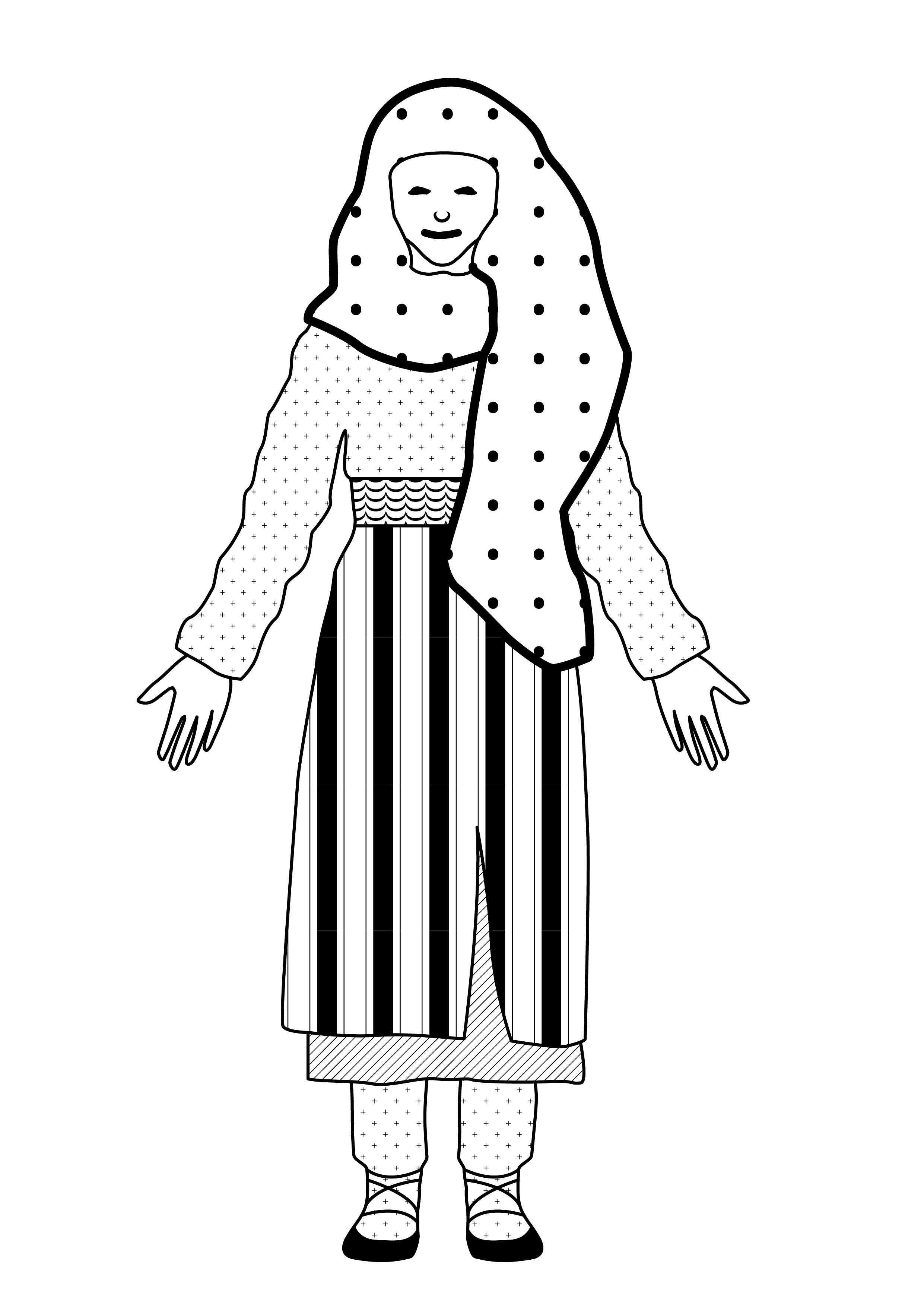 traditional costume from moldavia