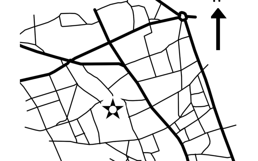 Harta cu împrejurimile catedralei Sfântul Iosif