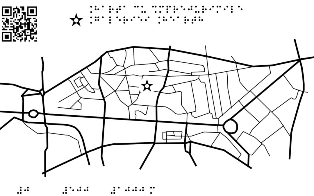Harta cu împrejurimile Galeriei Hearth